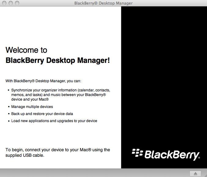 BlackBerry Desktop Manager